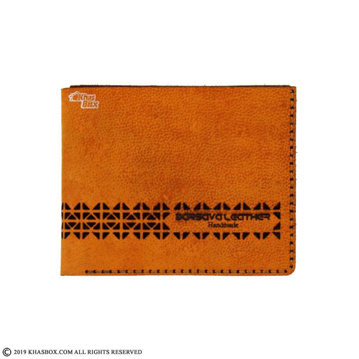 کیف پول چرم دست دوز مدل LW-4   Barsava Leather Wallet LW-4