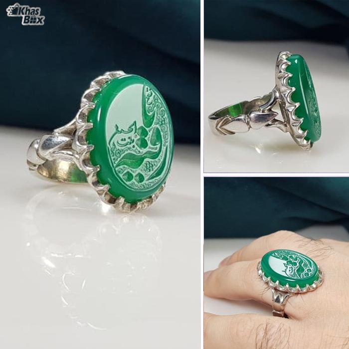 تخفیف خرید انگشتر مردانه عقیق نقش یا رقیه بنت الحسین
